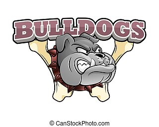 bulldogs banner illustration design