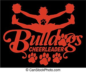 bulldogs cheerleader