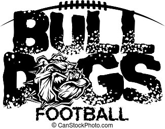 bulldogs football - distressed bulldogs football team design...