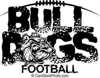 bulldogs football - distressed bulldogs football team design...