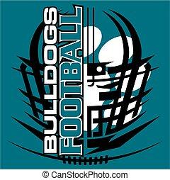 bulldogs football - tribal bulldogs football team design...