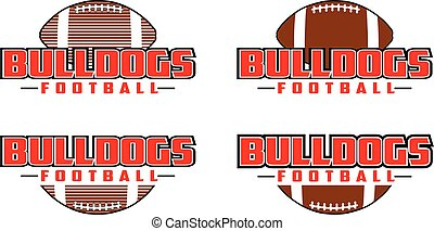 Bulldogs Football Design