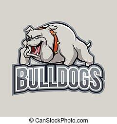 bulldogs illustration design full colour