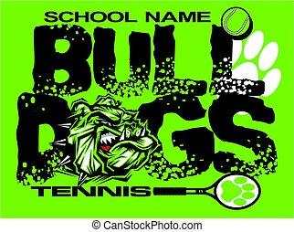 bulldogs tennis - distressed bulldogs tennis team design...