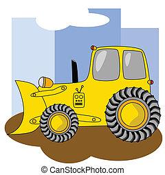 bulldozer, 2, dessin animé