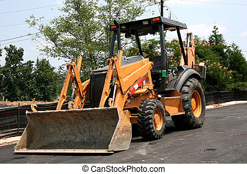 Heavy equipment at job site