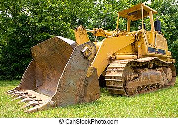 Bulldozer - A large construction bulldozer ready for work.