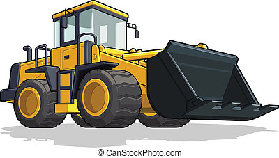 Bulldozer - A vector image of an isolated cement mixer truck...
