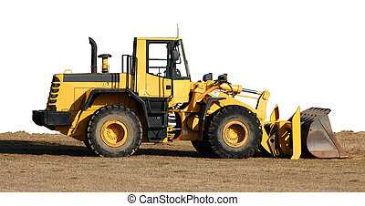 Bulldozer and dirt