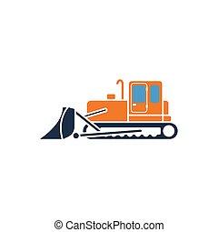 bulldozer, construction, icône