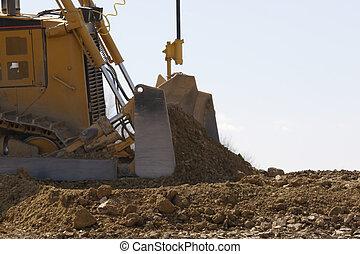 Bulldozer - Dozer Pushing Dirt