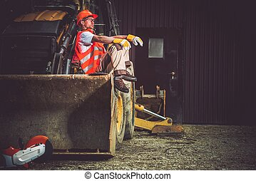 Bulldozer Excavator Operator - The Man and the Machine....