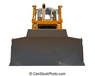Bulldozer, front view