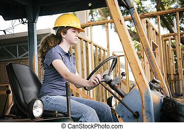 bulldozer, guidare, cultura