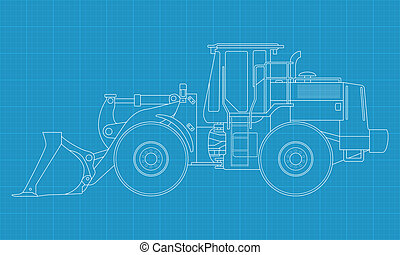 Bulldozer - High detailed vector illustration of a bulldozer