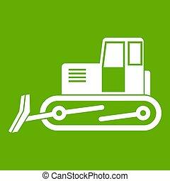 Bulldozer icon green