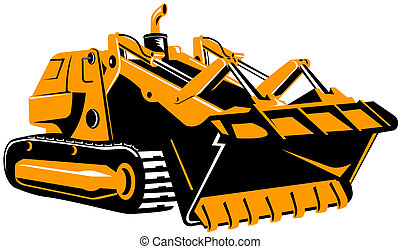 Bulldozer - Illustration on construction equipments