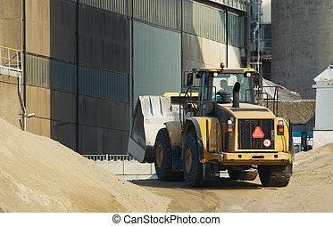 bulldozer in action - A bulldozer in action
