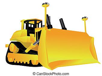 bulldozer isolated on a white background. 10 EPS