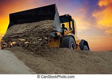 bulldozer, lavoro