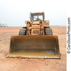 bulldozer on a building site