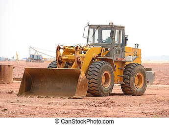 bulldozer on a building site