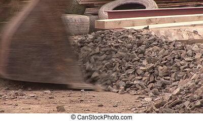 Bulldozer on a Construction Site