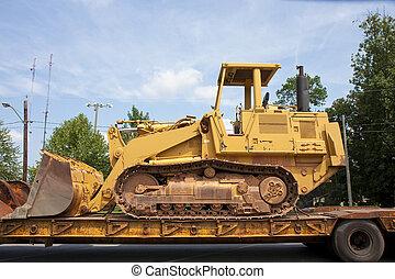 Bulldozer on a Truck