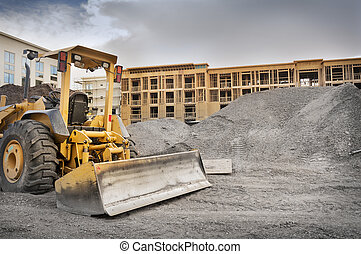 Bulldozer on construction site