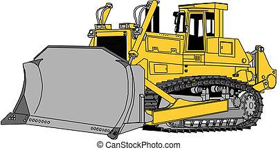 bulldozer, vettore