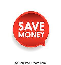 bulle, argent, vecteur, parole, sauver