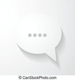 bulle, bavarder, parole, icône