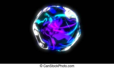 bulle, clair, boucle, arc-en-ciel, seamless, capable, color., black.