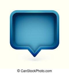 bulle, coloré, illustration, réaliste, vecteur, parole, 3d