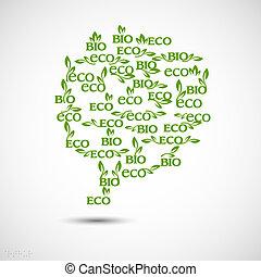 bulle, grand, fait, parole, eco-icons