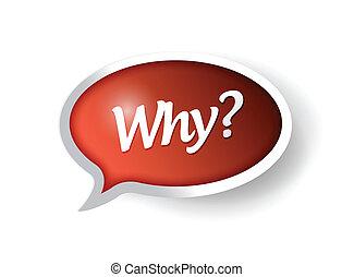 bulle, message, conception, pourquoi, illustration