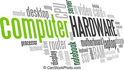 bulle mot, arbre, matériel, vecteur, étiquette, informatique, nuage
