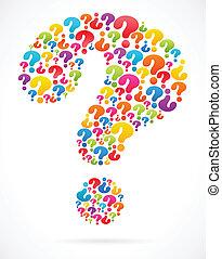 bulle, parole, marque, question, icônes