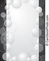 bulle, résumé, noir, fond blanc