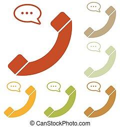 bulle, téléphone, parole, signe