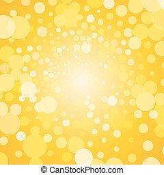 bulles, fond jaune