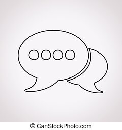 bulles, parole, icône