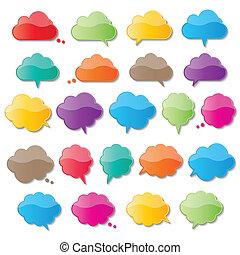 bulles, parole, nuage