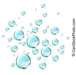 bulles, savon