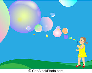 bulles soufflement savon