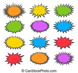 bulles, starburst, ensemble