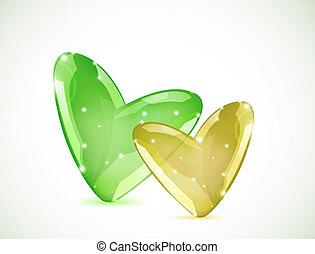 bulles, vecteur, hearts., coloré