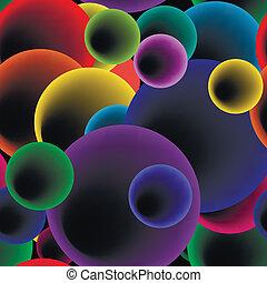 bulles, vecteur, pattern., seamless, rond
