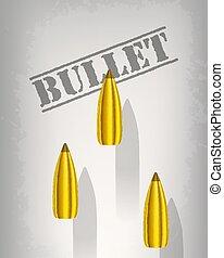 bullet background concept. vector illustration design