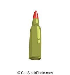Bullet cartoon vector Illustration